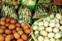Eggs and dried fish